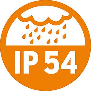 ضریب نفوذ پذیری برای مدار و موتور جک بازویی درب پارکینگ لایف Optimo Uni 5 برابر با استاندارد IP 54 بوده که بیانگر میزان مقاومت و دوام این سیستم دستگاه در برابر شرایط محیطی من جمله نفوذ آب و گرد و غبار می باشد.